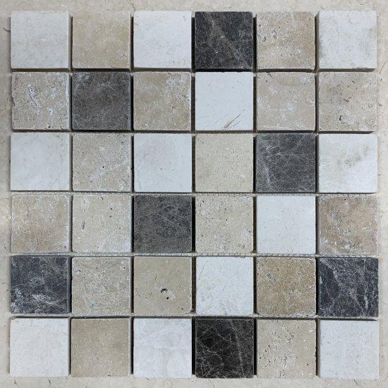 Mosaique marbre mix nuance