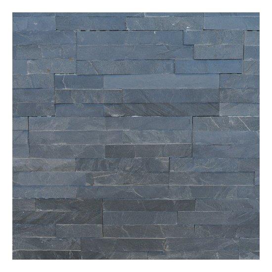 Parement Ardoise noire 35x18x1/1.5 cm