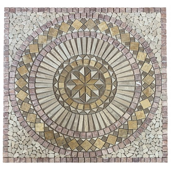 Rosace Travertin Impéria/walnut/golden/persiano