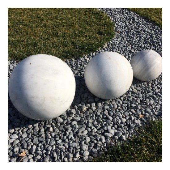 Sphère décorative Marbre blanc 3 pièces