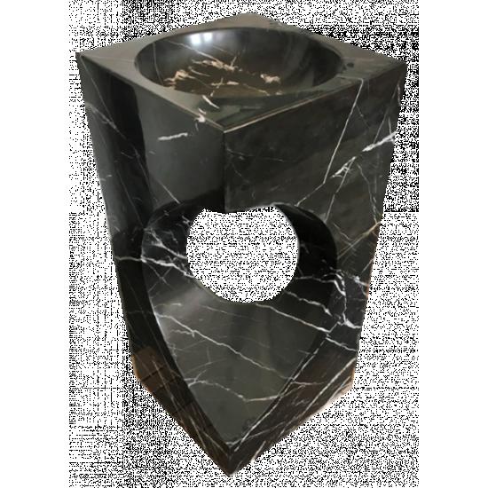 VASQUE Jaipur Noir polie 45 x 45 x H90 cm
