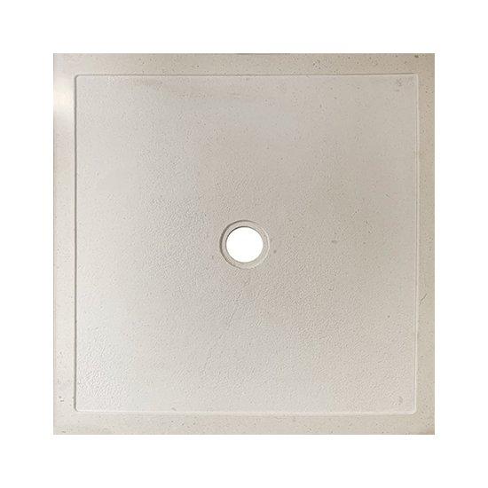 Bac à douche en marbre blanc