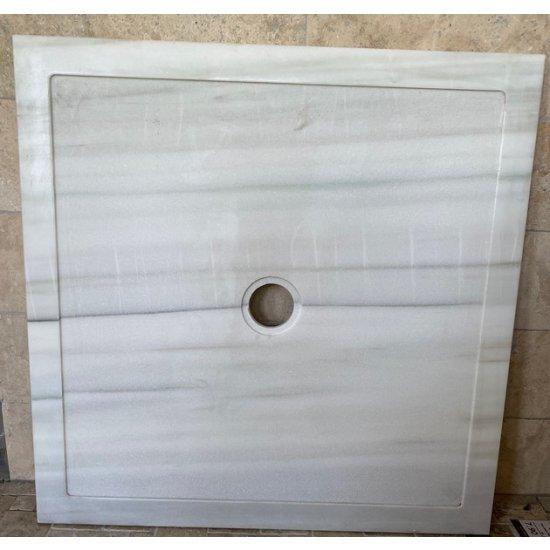 Bac à douche en marbre jade