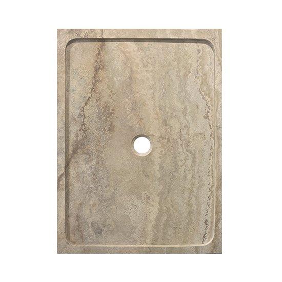 Bac à douche en travertin Scabos