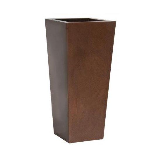 LOT Pot Kiam rouille 35x35 H 75 cm