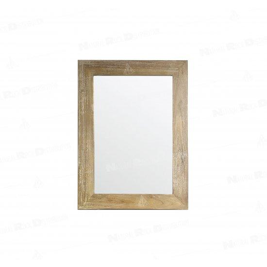 Miroir UBUD en teck massif blanchi