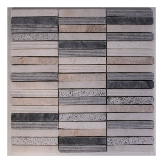 Mosaique travertin / marbre barrette