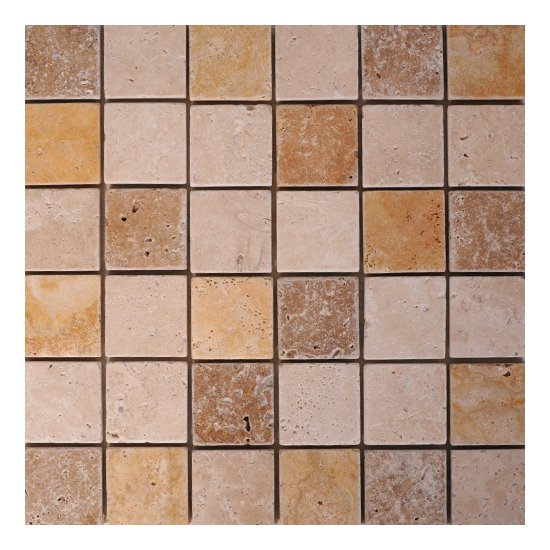 Mosaique travertin mélange 3 nuances
