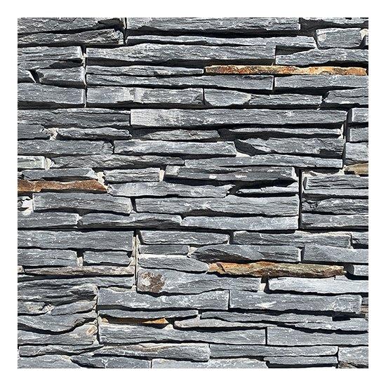 Parement Black lame 15.2x56x4 cm
