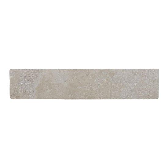 Plinthe travertin Impéria adoucie 8x40.6x1.2 cm