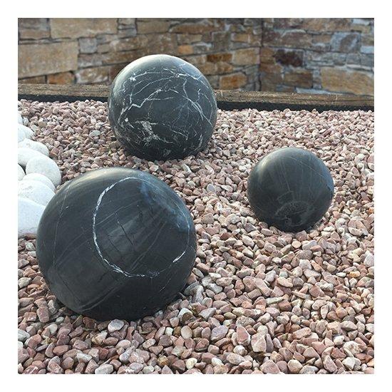 Sphère décorative Marbre noir 3 pièces
