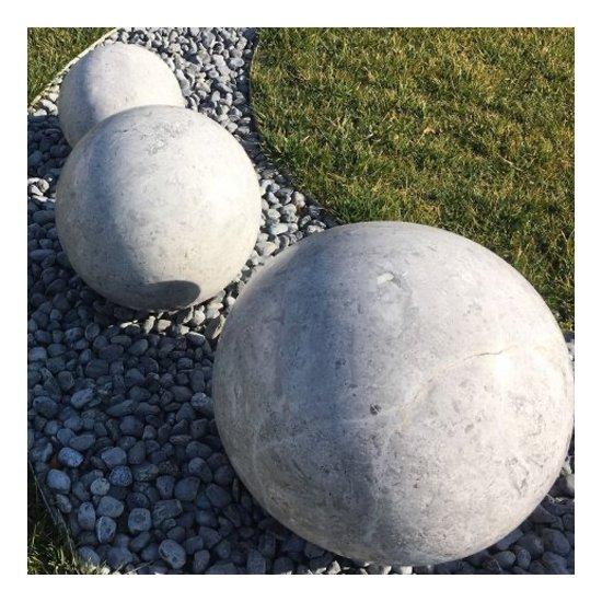 Sphère décorative Marbre gris 3 pièces