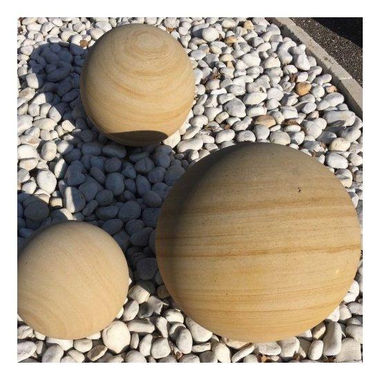 Sphère décorative Teak 3 pièces