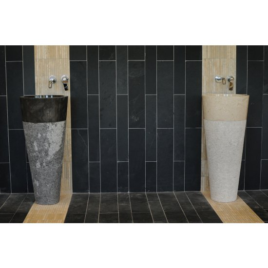Vasque colonne Héloïse en marbre