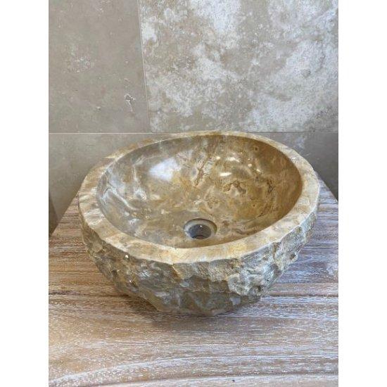 Vasque en marbre brown