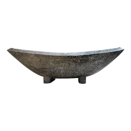 Vasque noire en marbre rectangulaire