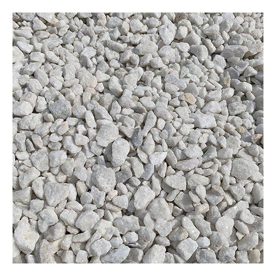 Galet concassé en marbre blanc