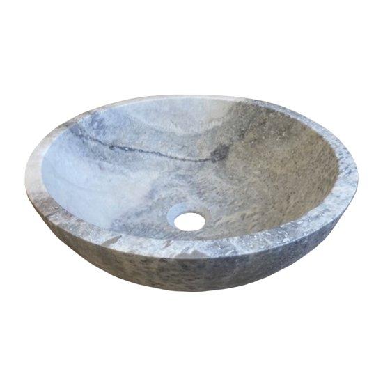 LOT Vasque en travertin silver