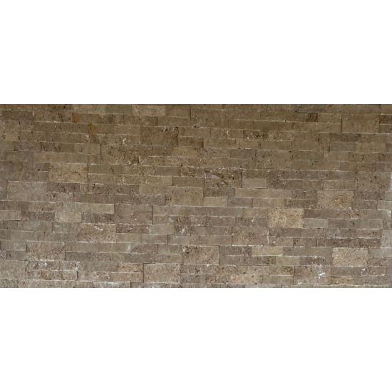 Parement travertin walnut 15.2x61x2.2 cm
